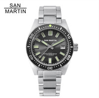 Wholesale automatic dive watches for men for sale - Group buy San Martin MAS Men Automatic Watches m Water Resistant Luminous Bezel Stainless Steel strap diving Wristwatch for