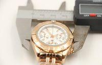 janelas de quartzo venda por atacado-Relógio de grife de luxo clássico de moda de quartzo crono senhoras relógio de pulso branco shell dial com data janela pulseira de ouro completo 35mm