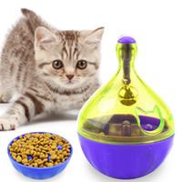 iq oyuncakları toptan satış-Interaktif Kedi IQ Oynayarak Tedavi Topu Oyuncak Akıllı Pet Oyuncaklar Gıda Top Gıda Dağıtıcı Kediler Oynama Eğitim Pet Için malzemeleri