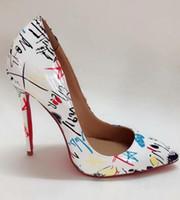 ingrosso pattini di vestito di cuoio superiori-Designer Tacchi alti da donna Rosso Bottom Pointed Pumps TOP 100% Vera pelle Stiletti Sexy Slip Dress Shoes Scarpe da festa