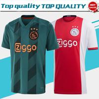 ingrosso calcio ajax corti-Ajax Home 2019 Brand New Soccer Jerseys 19/20 Trasferte T-Shirt da calcio casa rosso TADIC CRUIJFF manica corta Personalizzato uniformi di calcio In Vendita