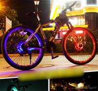 döngü dümen ışıkları toptan satış-Bisiklet Tekerlek Işık Bisiklet Ön / Kuyruk Hub Işık Led Uyarı Lambası Konuştu Bisiklet Dekorasyon Gece Sürme Bisiklet Aksesuarları