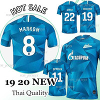 ingrosso trasporto del dhl del pullover del thai-Thai FC Zenit blu domestico Jersey di calcio 2019 20 10 Zenit Dzyuba 7 AZMOUN Football Shirts 27 Ozdoev uniformi di gioco