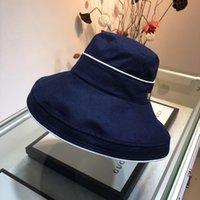 geniş şapkalı golf şapkaları kadınlar toptan satış-Casquette Moda Güneş Şapka kadın erkek disket şapka Katlanabilir Geniş Büyük Ağız Disket kova şapka Yaz Plaj Güneş Kap