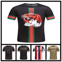tshirt homme célèbre marque achat en gros de-Italie Français célèbre marque Hommes T-shirt crocodile Casual T-shirts à manches courtes hommes imprime t-shirts camisetas hombre tops t-shirts TShirt