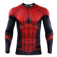 traje de los hombres al por mayor-Nuevo verano The Spider-Verse impresos en 3D camisetas hombres Spiderman camisas de compresión 2019 Tops Male Comics Cosplay