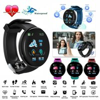 Wholesale D18 Smart Watch Men Women Blood Pressure Round Smart wristband Waterproof Sport Smart Watch Fitness Tracker For Phone Android Ios