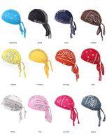 diademas peluca al por mayor-Lujo Unisex Velvet Durags Bandana Turban Hat Gorras piratas Pelucas Doo Durag Biker Headwear Diadema Sombrero pirata Gorras de montar Accesorios para el cabello