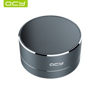 Wholesale catheter play for sale - Group buy Qcy A10 Wireless Bluetooth Speaker Metal Mini Portable Subwoof Sound With Mic Tf Card Fm Radio Aux Mp3 Music Play Loudspeaker T190704