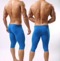 sıkı pantolon toptan satış-2019 Braveperson Seksi Yumuşak Trunk erkeğin Yoga Pantolon Spor Pijama Sıska Tayt Adam Spor İç Spor Bodywear Adam Mayo
