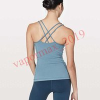 Wholesale vest sport polyester resale online - DHL Free Female Backless Running Sport Vest Comfortable Summer Gym Quick Dry Workout Free Breathable Nulu Feeling
