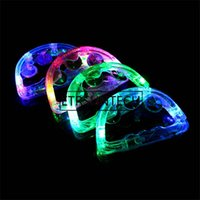 Wholesale tambourine lights for sale - Group buy 100pcs Colorful LED Flashing Baby Rattle Hand Bell Light Up LED Tambourine Luminous Toys Bar KTV Party Cheering Prop
