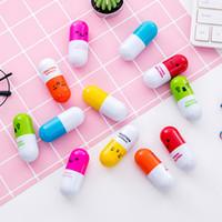 Wholesale novelty pills resale online - New Kawaii Pill Shape Retractable Ballpoint Pen Cute Learning Stationery Student Prize Pill Novelty Ballpoint Pens