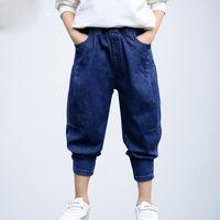 süngerimsi kot pantolon toptan satış-Erkek Kot Pantolon Kot Pantolon Yırtık Kot Yürüyor Bebek Erkek Kot Pantolon 2019 Giysileri Çocuk Delik Şalvar Pantolon