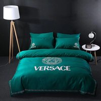 Wholesale noble bedding resale online - Noble Green New Bedding Full Queen King Size Spring Summer Luxury Bed Cover Man And Women Bedding Supplies