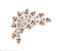 Wholesale indian clothing free shipping online - fashion jewelry Using Swarovski Elemental Crystal Brooches Fairy tales in late autumn OL Clothes and accessories Pins