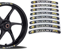 tanques suzuki al por mayor-Calcomanía de la rueda para Suzuki Racing Rim Vinilo Pegatinas Raya del tanque de combustible de la motocicleta