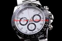 ingrosso migliori orologi cronografo-Orologio stile lusso 2 Orologio AR quadrante nero 40mm cronografo 116500LN 904L Cronografo acciaio CAL.4130 Orologio automatico da uomo