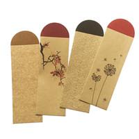 chinese style lesezeichen großhandel-Kraftpapier-Lesezeichen-Verpackungsbeutel chinesischer Retro- Art-leerer Bookmark-Abdeckungs-Kasten-Großhandel