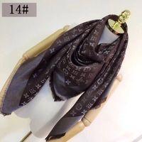 ingrosso sciarpa di seta cravatta quadrata-Good Qualtiy Sciarpa per donna lana cashmere seta argento filo Sciarpa donna marca Sciarpe 2018 moda sciarpe quadrate dimensioni 140x140 cm JOS52A