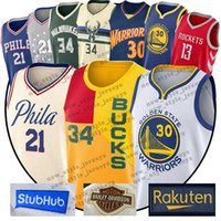 on sale b825f 5c32f Curry 21 Embiid NCAA 13 Harden Antetokounmpo Trikot Simmons LSU 25 Ben  Basketball-Trikots 30 Stephen Rot Weiß S-XXL