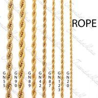 Wholesale 24K Gold Color Filled mm Gold Plated Necklace Chain Rope Classic Mens Womens Chain Gift Jewelry