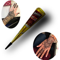 Wholesale paintings india resale online - 25g Original Kashmir Imports India Temporary Tattoos Painted Edition Authentic Henna Natural Jet Black Plant Henna Cream