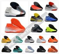 zapatos de fútbol de interior al aire libre al por mayor-Mercurial SuperflyX VI 6 Elite TF 360 Indoor Outdoor Hombres Mujeres Niños Zapatos de fútbol CR7 Ronaldo Neymar NJR Botas de fútbol Tacos Tamaño 35-45