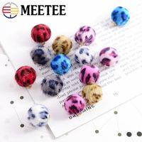 Wholesale korean quilt resale online - Meetee mm Leopard Beads Button DIY Horse Hair Korean Jewelry Material Earrings Shirt Clothing Decorative Buckle