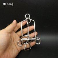 puzzles de fil achat en gros de-Wire Puzzle nouveauté Bell Ring Puzzle Casse-tête en métal Jeux de fils métalliques Jeux d'esprit pour enfants (Numéro de modèle H189)