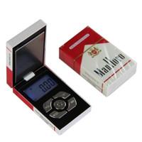 mini dijital ağırlık tartıları toptan satış-100g x 0.01g Takı Cep Mini Dijital Ölçeği Sigara Durumda Ağırlık Dengesi Takı Cep Mini Dijital Ölçek 200g / 0.01g