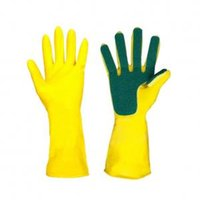 Wholesale rubber glove latex for sale - Group buy Kitchen Cleaning Sponge Fingers Gloves Creative Home Washing Spone Cleaning Gloves Rubber Household Wash Dish Bowl Gloves TTA203