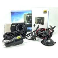 Wholesale camera park resale online - 4inch Dual dash Cam P HD Dual Channel Car DVR Front and Rear Driving Video Recorder with G Sensor Motion Detect WDR Parking mode