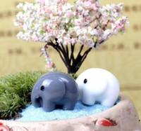 ingrosso fate in miniatura per i giardini-Resin Garden Decorations Fairy Garden Miniature Cute Elephant Miniature Landscape Ornaments Giardino Bonsai Decorazioni per casa delle bambole Mestiere in resina