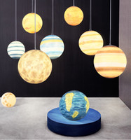 Wholesale moon room lamp for sale - Group buy 2019 E27 CM Nordic Creative Universe Planet Acrylic Pendant Light Moon Earth Mars Uranus Lamps Modern Hanging