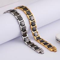 armband mode zubehör wolfram großhandel-Neue Mode-Accessoires schwarz Charme Wolfram Stahl Magnet Armband Herren klassischen Schmuck