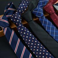 Wholesale wedding dresses for skinny for sale - Group buy 6cm ties for men skinny tie Wedding dress necktie fashion plaid cravate business gravatas para homens slim shirt accessories businesstie