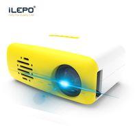 führte intelligente pixel großhandel-2019 Neuer Mini Projektor LED Smart CS03 Heimkino Projektor 320x240 Pixel 400-600 Lumen HDMI USB TF LCD HD Tragbarer Projektor