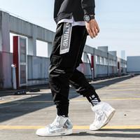 ingrosso moda coreana maschile hip hop-Pantaloni cargo uomo Streetwear Jogging 2019 Pantaloni sportivi coreani Hip Hop Pantaloni maschili Harajuku Vintage Fashions