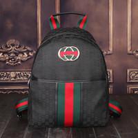 meninos mochilas escolares de lona venda por atacado-Nova marca de Moda GG Famoso saco de Viagem reprografia meninos bolsas de lona mochila grils saco mochilas escolares