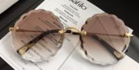 oval elmas toptan satış-Chloe CE142 Vintage Moda Elmas Güneş Kadınlar Marka Tasarımcısı Bayanlar Kadınlar Için Güneş gözlükleri Lunette De Soleil ulculos De ...