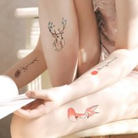 Wholesale sexy small tattoos for sale - Group buy Temporary Small fresh tattoo stickers waterproof durable and lovely simulation sexy tattoo picture stickers set