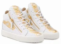 ingrosso sneaker in cerniera con cerniera-Italia Luxury Zanotti SCARPE RUNNING NERE DI ALTA QUALITÀ SCARPE LUXURY ZIP UOMO DONNE Alto aiuto Zipper Shoes Splice Couple Shoes 35-47