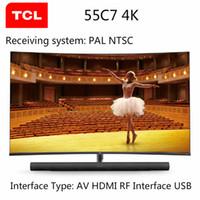 телевидение 55 оптовых-TCL 55C7 55-дюймовый 4K ультра-высокой четкости смарт изогнутые LED ЖК-телевизор 136% высокая цветовая гамма ТВ DHL бесплатная доставка!