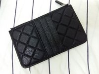 Wholesale zero cell phone for sale – best Hot Classic Design Cell Phone Bag Coin Pocket Card Holder Long Style Zip Pouch Caviar Lambskin Zero Money Clutch Wallet