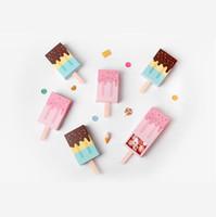 ingrosso cartoni animati di carta-Forma di gelato Scatole regalo carino Baby Shower Festa di compleanno Contenitore di caramelle Scatola regalo di cartone animato Cassetto per bambini Scatola di favore per feste LX6986