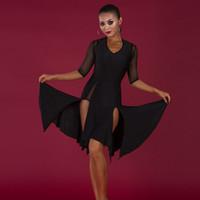 latin-stil kleider großhandel-latin style dresses schwarz latin dress frauen quaste amerikanische dress praxis tragen salsa sumba dance kostüm