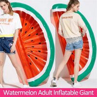Wholesale toy semi for sale - Group buy 180cm Inflatable Giant Pool Float Mattress Toys Semi Circular Watermelon Inflatable Raft Floating Bed Adult Swimming Water Buoy