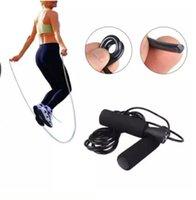 ingrosso maniglia di scatole di scorta-Corda per saltare regolabile Velocità per il cuscinetto Per saltare Esercizio aerobico Boxe Fitness Corde Manico in schiuma nera disponibile