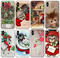 Wholesale kitty for iphone online – custom TongTrade Vintage Kitty Christmas Case For iPhone Pro Max X XS s s s s s Galaxy J7 Huawei Y5II Y6II Sony Z3 Compact Case